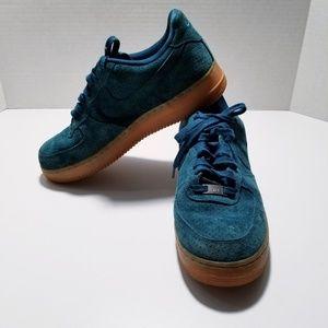 Nike NIB Nike Air Force/Gum Green Suede sz- 11.5